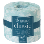 Stella Classic 1 ply 850sht Toilet Tissue - 850CL