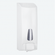 1Lt White Refillable Liquid Hand Soap Dispenser with Universal Key - A82501